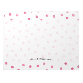 Bloc-note Motif de points blanc rose de confettis