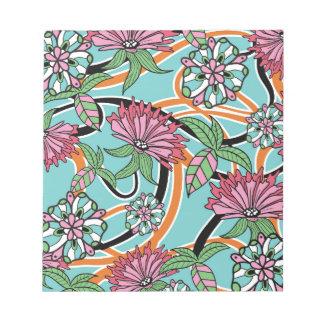 Bloc-note motif floral d'été heureux