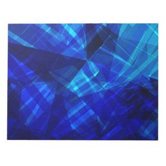 Bloc-note Motif géométrique de glace bleue fraîche
