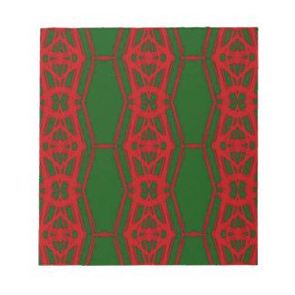 Bloc-note Motif vert rouge frais de Noël