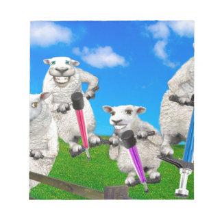 Bloc-note Moutons sautants