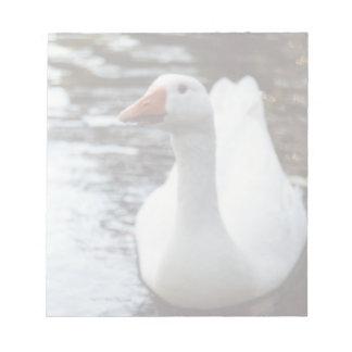Bloc-note Oie blanche