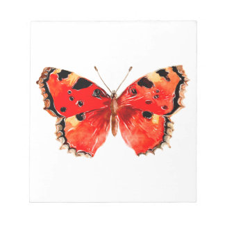 Bloc-note Papillon de rouge d'aquarelle de papillon