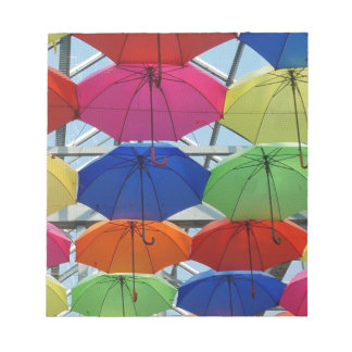 Bloc-note parapluie coloré
