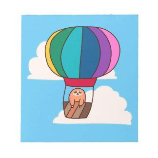 Bloc-note Paresse chaude de ballon à air