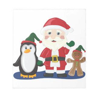 Bloc-note Père Noël et amis