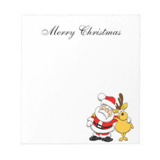 Bloc-note Père Noël et renne