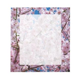 Bloc-note photographie rose élégante d'arbre de fleurs de
