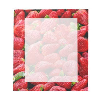 Bloc-note photographie rose foncée délicieuse de fraises