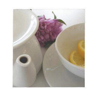 Bloc-note préparez pour le thé