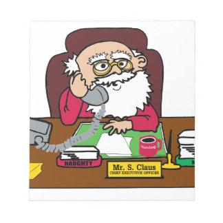 Bloc-note Président de Père Noël