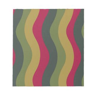 Bloc-note Rayures onduleuses de mélange vert moussu