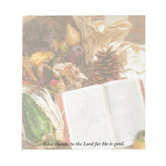 Bloc-note Récolte et bible de thanksgiving