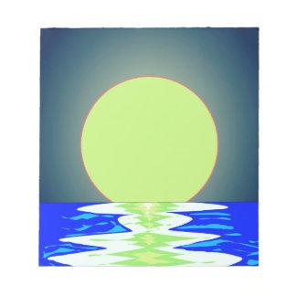 Bloc-note Réflexions d'océan de soirée