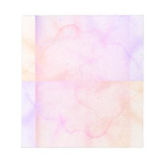 Bloc-note Regard de papier âgé de trace d'eau de rose en
