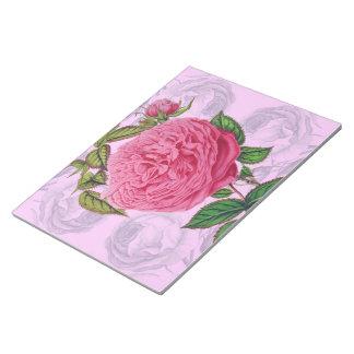 Bloc-note Romantique rose s'est levé