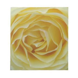 Bloc-note Rose jaune