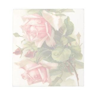 Bloc-note Rose vintage de rose