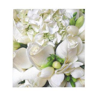Bloc-note Roses blancs, Happy_