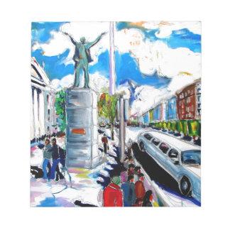 Bloc-note rue Dublin d'oconnell de monument de larkin