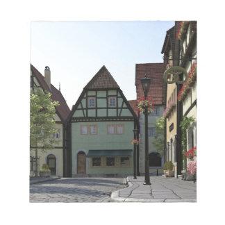 Bloc-note Scène bavaroise de coin de la rue de ville