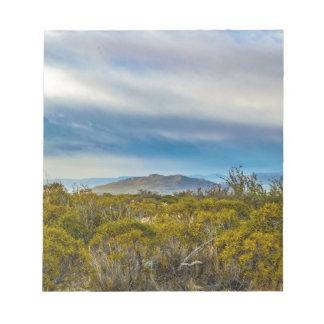 Bloc-note Scène Patagonian de paysage, Santa Cruz, Argentine