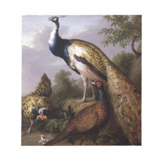 Bloc-note STRANOVER, animaux de paon d'oiseaux de Tobias