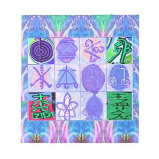 Bloc-note Symboles de KARUNA Reiki : Rendu artistique