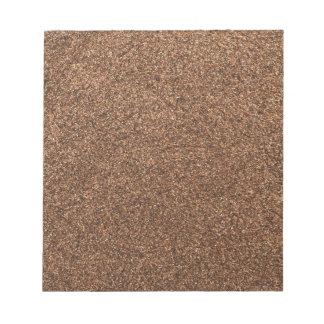 Bloc-note texture de poivre noir