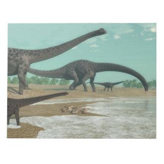Bloc-note Troupeau de dinosaures de Diplodocus - 3D rendent