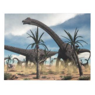 Bloc-note Troupeau de dinosaures de Diplodocus dans le