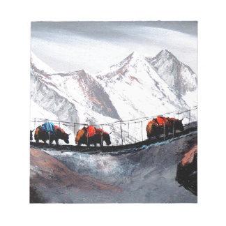 Bloc-note Troupeau de yaks Himalaya de montagne