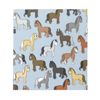 Bloc-note Troupeau mignon de chevaux