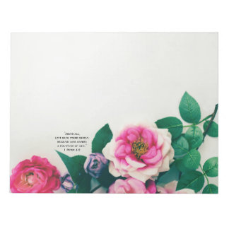 Bloc-note Vers rose sauvage rose de bible d'amour de bouquet
