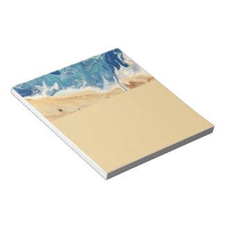 Bloc-notes abstrait de plage