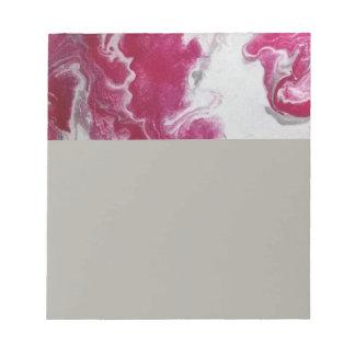 Bloc-notes de marbre rose