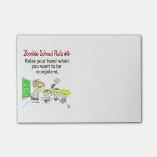 Bloc - notes de post-it d'école de zombi post-it®