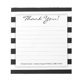 Bloc - notes noir et blanc simple de Merci de Blocs Notes