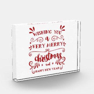 Bloc Photo Décor de vacances de typographie de Joyeux Noël