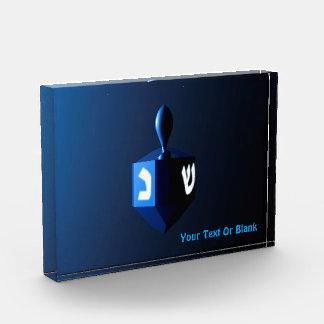 Bloc Photo Dreidel bleu brillant
