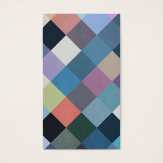 Blocs multicolores géométriques des motifs   cartes de visite