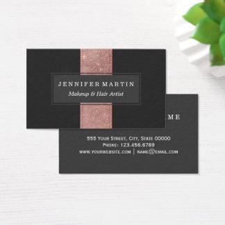 Blocs roses modernes de couleur de noir de parties cartes de visite