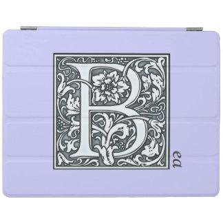 bloei zilveren monogram - B iPad Cover