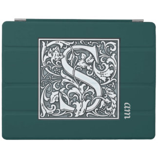 bloei zilveren monogram - S iPad Cover