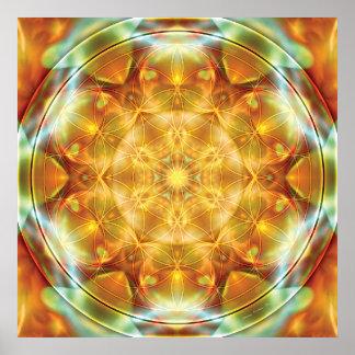 Bloem van het Leven Mandala 16 Poster