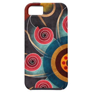 Bloemen iPhone 5 van de Kunst van de Kleur Abstrac Tough iPhone 5 Hoesje