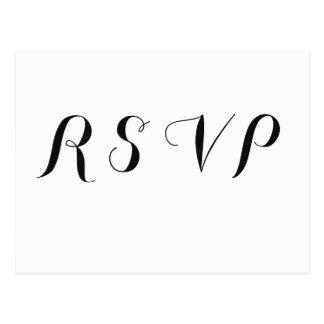 Bloemen moderne het huwelijks rsvp briefkaarten