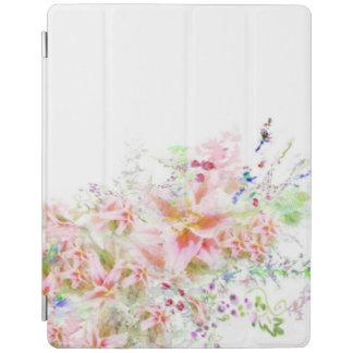 Bloemen Tuin Watercolour I het Hoesje van het iPad Cover