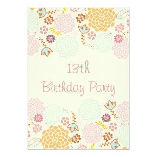 Partijen Meisjes 13de Verjaardagsuitnodigingen Zazzle Be