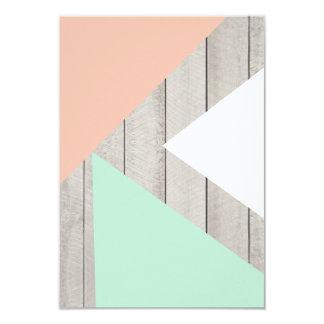 Blok van de Kleur van de Abrikoos van Girly het 8,9x12,7 Uitnodiging Kaart